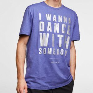 Zara Man Purple Whitney Houston Graphic Tee